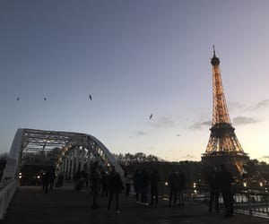 france, paris, and sunset image
