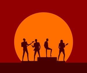 band, red, and daft punk image