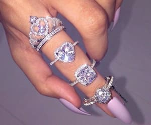 diamonds, fashion, and rings image