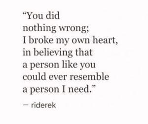 love, broken, and feelings image