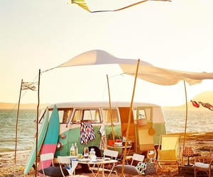 camping, sea, and combi image