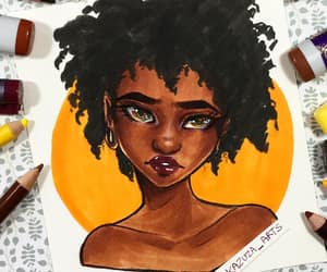 Afro, brown, and girl image