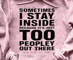 hooded sweatshirt, funny quotes, and pink image