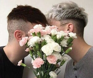 flowers, love, and boy image