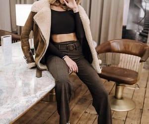 beautiful, model, and winter fashion image