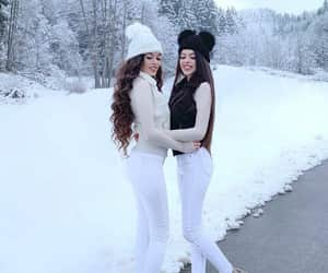 best friend, winter, and friendship goals image
