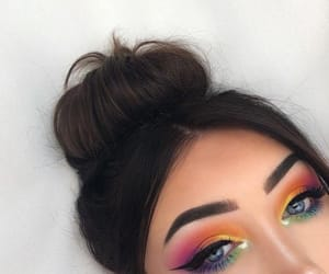 beauty, cosmetic, and eyes image