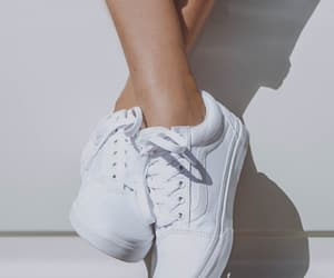 sneakers, white, and fashion image