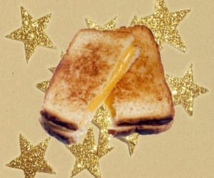 food, grilled cheese, and stars image