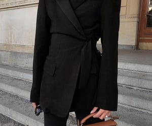 black, blazer, and elegant image