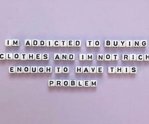 buy, shopaholic, and letters image