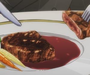 anime, meat, and anime food image