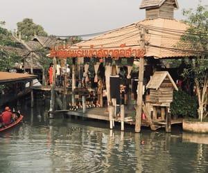 thailand, pattaya, and floating market image