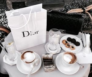 coffee, dior, and food image