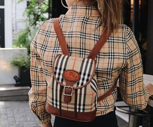 backpack, Burberry, and clothes image