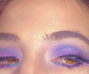 beauty, purple, and eyeshadow image