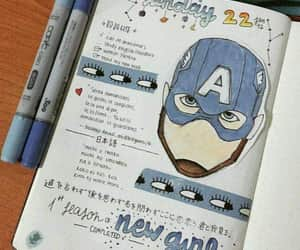 art, book, and captain america image