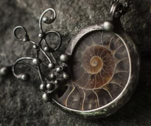 etsy, gift for, and ammonite necklace image