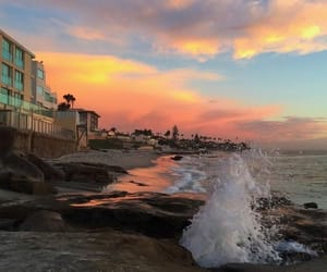 beach, summer, and sunrise image
