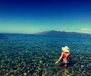 hawaii, maui, and swimming image