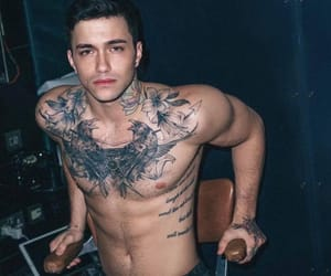 men, Tattoos, and sexy guys image