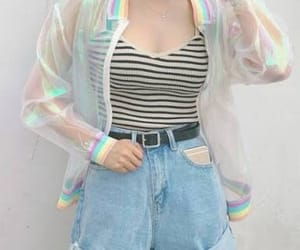 aesthetic, korean, and rainbow image