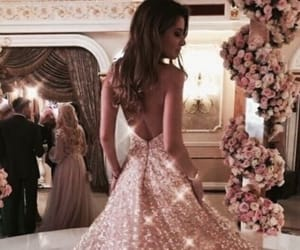 aesthetic, rose gold, and dress image