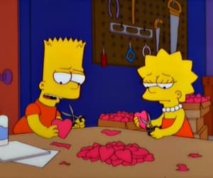 the simpsons, sad, and love image