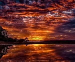 sea, sky, and sunrise image
