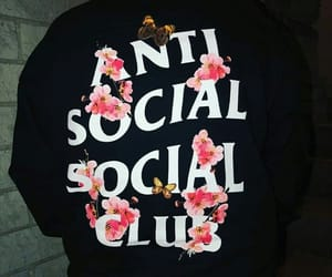 black, hoodies, and antisocial club image