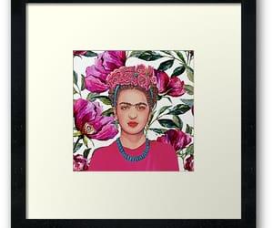 art, redbubble, and frida kahlo image