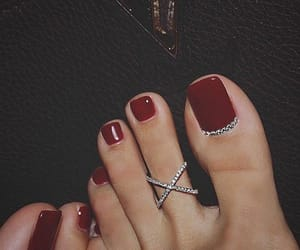 nails, red, and feet image
