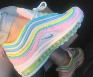 shoes, nike, and pastel image