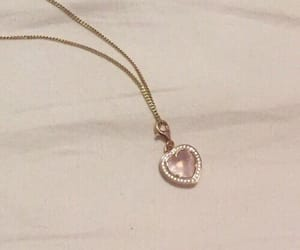 pink, aesthetic, and necklace image