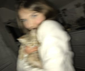 blow, cat, and girl image