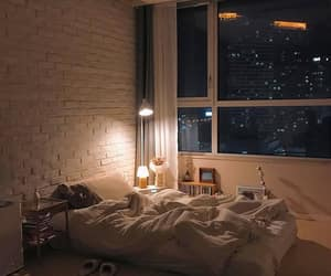 home, night, and view image