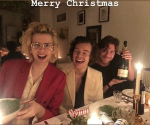 Christmas party, styles, and harry image