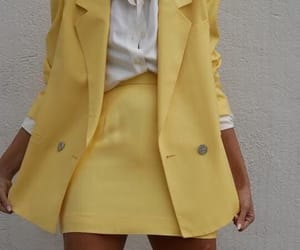 aesthetic, clothes, and yellow clothes image