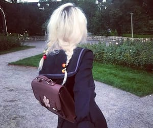 aesthetic, blonde hair, and girls image