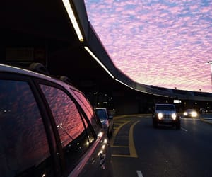 sky, car, and sunset image