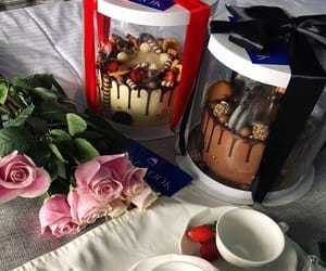 cakes, dessert, and flowers image