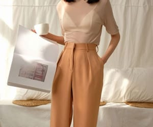 brown, classy, and outfit image