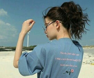 girl, blue, and aesthetic image