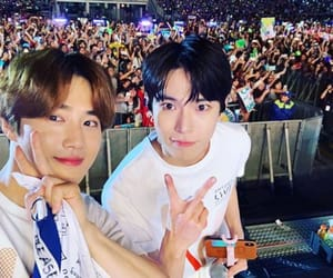 suho, exo, and doyoung image