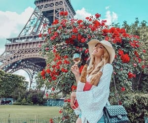 accessories, blonde hair, and eiffel tower image