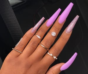 pretty hands, acrylic nails, and pretty nails image