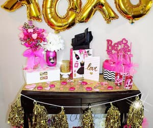 decor, gold, and hearts image