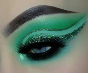 envy, green, and makeup image