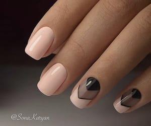 art, nails, and black image