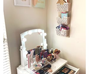 decor, happy place, and makeup image
